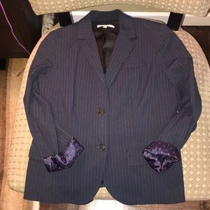 GAP pinstriped fitted blazer